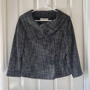 Tahari Black Tweed Blazer